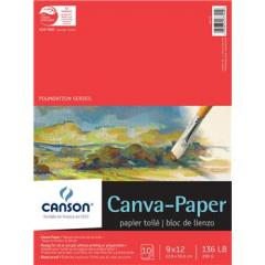 Canson Foundation Series Canva-Paper Canvas Pad