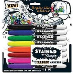 Sharpie Stained by Sharpie Fabric Marker Set of 8