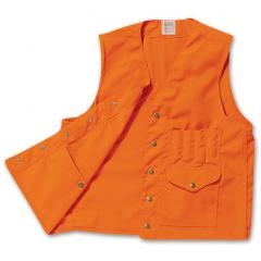 Filson Safety Vest Snap Front Closure Blaze Orange