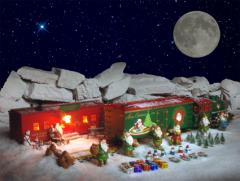 USA Trains Christmas Locomotive