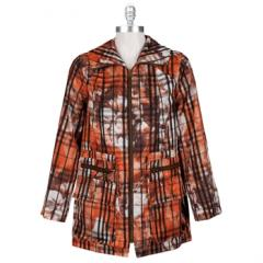 Multiples Lightweight Plaid Jacket with