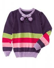 Pom Pom Stripe Sweater