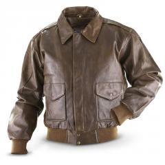 Vintage Cowhide Bomber Jacket