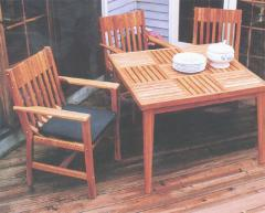 Parquet Square Dining Table