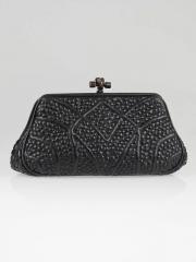 Bottega Veneta Black Intrecciato Nappa Leather San
