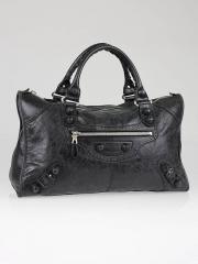 Balenciaga Black Leather Giant Brogues Covered