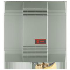 Fan-powered whole-house humidifier