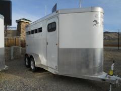 Circle J Bronco 3 Horse Steel Trailer