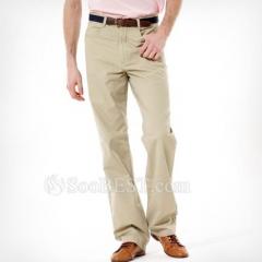 Men's Casual Long Straight Leg Cotton Pants