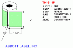 Thermal Transfer Labels Rolled
