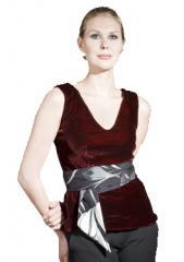 Audrey velvet top