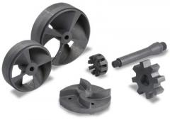 Graphite rotors, impellers and shafts for aluminum
