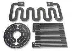 Graphite heating elements