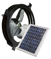 Solar Powered Gable-Mounted Attic Vent