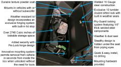 F-150 Under Rear Seat Lockbox (w/ subwoofer)