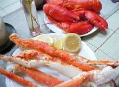 Alaskan King Crab Legs and Lobster
