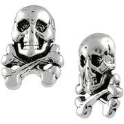 Brinley Co. Skull and Crossbones Sterling Silver