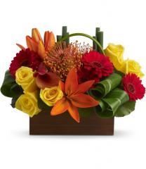Bamboo Getaway Floral Arrangement T85-3A
