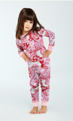 Red Palm Springs Paisley Kids Classic Stretch PJ