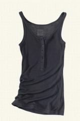 Women's Henley Rib Knit Tank Top