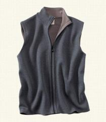Men's Wool Reversible Vest Sweater