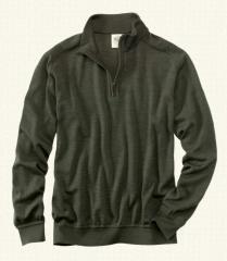 Men's Wool Quarter Zip Pullover Sweater