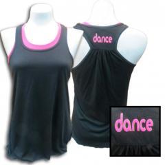 Black flowy dance tank T-shirt