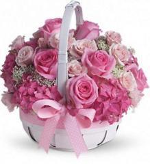 She's Lovely roses basket
