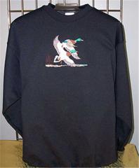 Sueded Finish Crewneck Sweatshirt