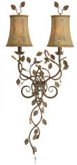 Gold Vines Twin Metal Wall Scone WS3399