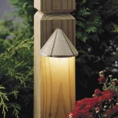 One Light Gray Deck Light