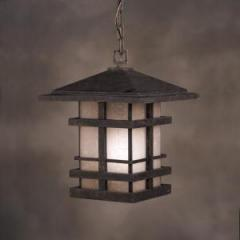 One Light Bronze Hanging Lantern