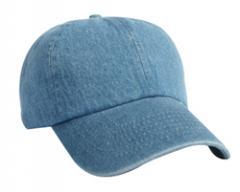Unconstructed washed denim cap