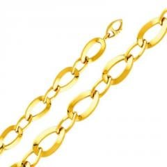 Two tone gold designer contemporary ring link