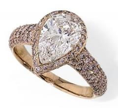 Vintage pave style bridal ring