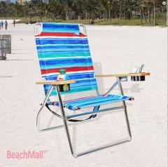 Padded Executive 4 position Aluminum High Beach