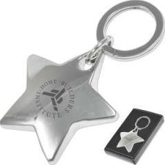 Star Shaped Metal Key Chain