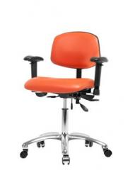 Vinyl Office Chair Chrome - Desk Height