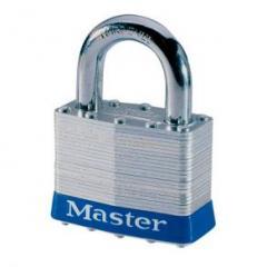 Laminated steel padlock, keyed alike