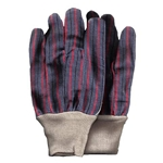 Leather Gloves with a Knit Wrist