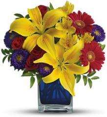 Teleflora's Blue Caribbean Bouquet