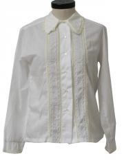 1960's Womens Frilly Ruffle Shirt