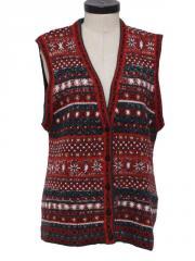 1990's Womens Snowflake Sweater Vest