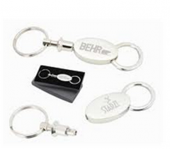 Oval Valet Key Ring