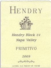 2009 Hendry Block 24 Primitivo Wine