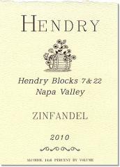 2010 Hendry Block 7 & 22 Zinfandel Wine
