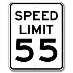 SPEED LIMIT Regulatory Sign