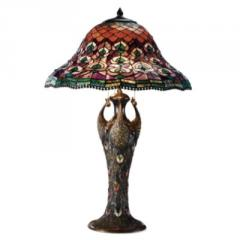 Tiffany Peacock Table Lamp