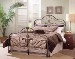 Provence Antique Gold Metal Bed