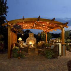 Outdoor GreatRoom Sonoma Arched Wood Pergola